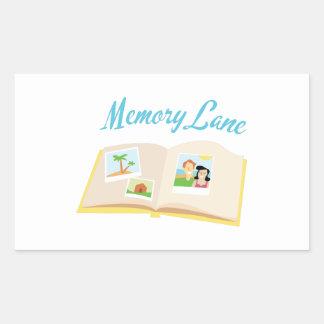 Memory Lane Rectangle Sticker