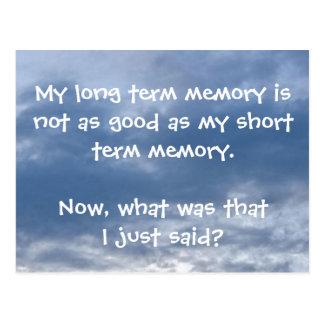 Memory Lapse Postcard