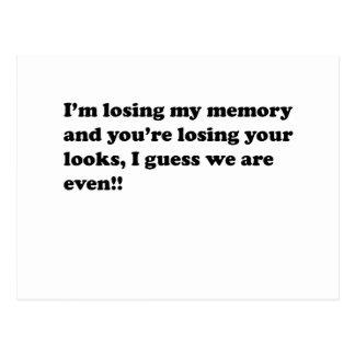 memory loss post card