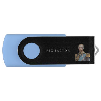 Memory Stick, Blue, George V Swivel USB 2.0 Flash Drive