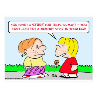 memory stick study tests educations postcard