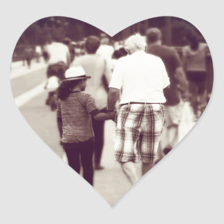 Memory With Grandpa Heart Sticker