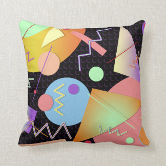 Memphis #412 throw pillow