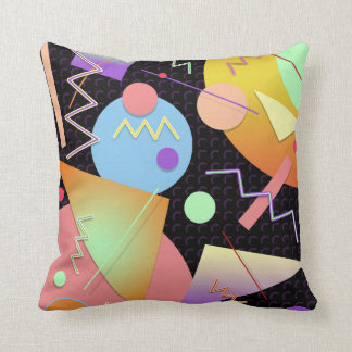 Memphis #412 throw pillow
