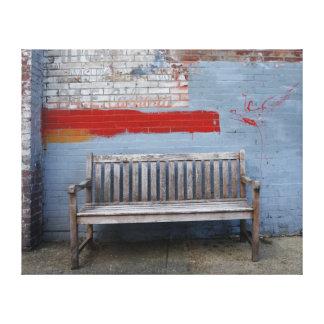 Memphis Bench Canvas Print