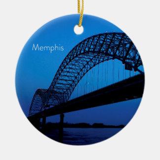 Memphis Bridge Ceramic Ornament