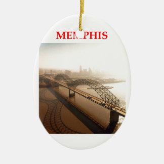 memphis ceramic ornament