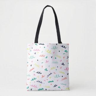 Memphis Confetti Tote Bag
