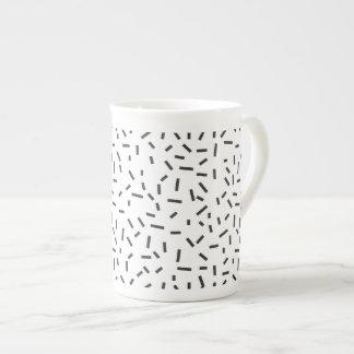 Memphis Geometric Minimal Black Abstract Style Tea Cup