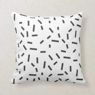 Memphis Geometric Minimal Black Abstract Style Throw Pillow