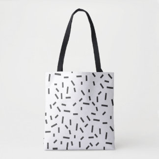 Memphis Geometric Minimal Black Abstract Style Tote Bag