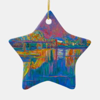 Memphis Lights Ceramic Ornament