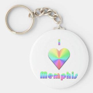 Memphis -- Pastels Keychain