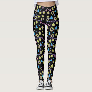 Memphis pattern 1980's Crazy Legs Leggings