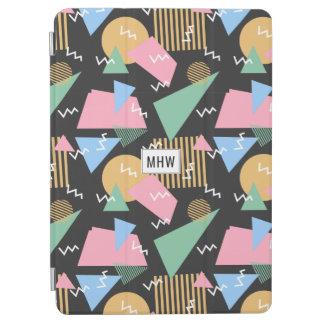 Memphis Pattern custom monogram device covers iPad Air Cover