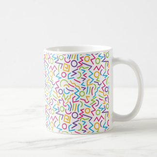 Memphis Retro Colorful Abstract Style Coffee Mug