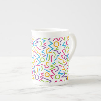 Memphis Retro Colorful Abstract Style Tea Cup