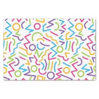 Memphis Retro Colorful Abstract Style Tissue Paper