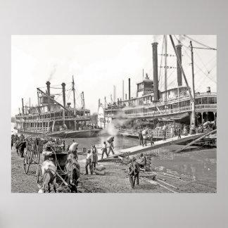 Memphis Riverboats Poster
