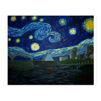 """Memphis Starry Night"" by Jack Lepper Postcard"