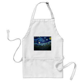 """Memphis Starry Night"" by Jack Lepper Standard Apron"