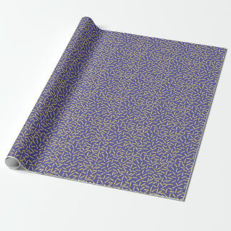 Memphis Style Purple Zigzag Wrapping Paper