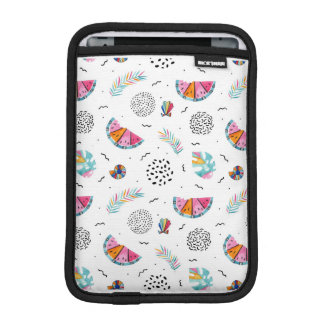 Memphis Style Tropical Summer Pattern iPad Mini Sleeve