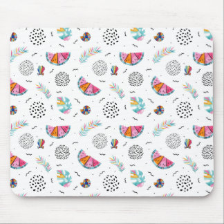 Memphis Style Tropical Summer Pattern Mouse Pad