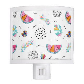 Memphis Style Tropical Summer Pattern Nite Light