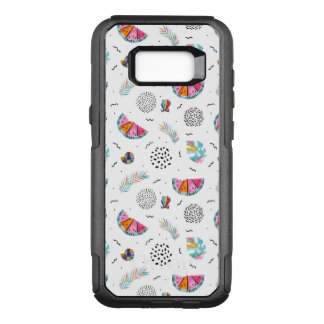 Memphis Style Tropical Summer Pattern OtterBox Commuter Samsung Galaxy S8+ Case