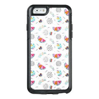 Memphis Style Tropical Summer Pattern OtterBox iPhone 6/6s Case