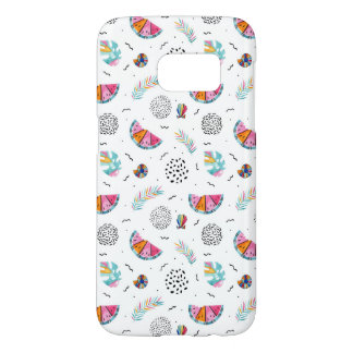 Memphis Style Tropical Summer Pattern Samsung Galaxy S7 Case
