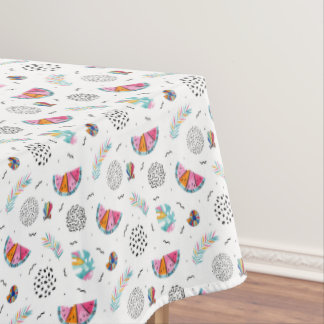 Memphis Style Tropical Summer Pattern Tablecloth