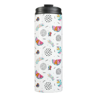 Memphis Style Tropical Summer Pattern Thermal Tumbler