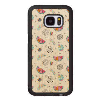 Memphis Style Tropical Summer Pattern Wood Samsung Galaxy S7 Case