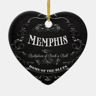 Memphis, Tennessee - City with Soul Ceramic Ornament