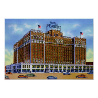 Memphis Tennessee Hotel Peabody Poster