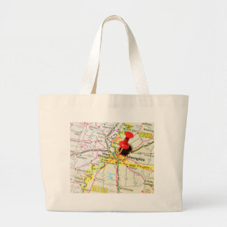 Memphis, Tennessee Large Tote Bag