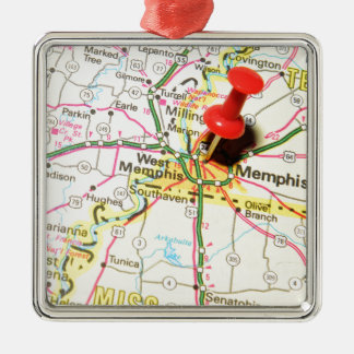 Memphis, Tennessee Metal Ornament