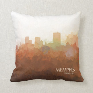 Memphis, Tennessee Skyline-In the Clouds Throw Pillow