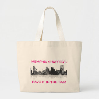 MEMPHIS, TENNESSEE SKYLINE LARGE TOTE BAG