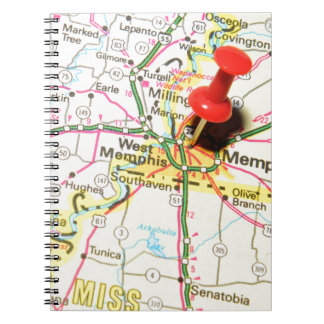 Memphis, Tennessee Spiral Notebook
