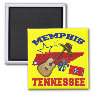 Memphis, Tennessee Square Magnet