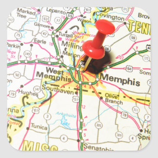 Memphis, Tennessee Square Sticker
