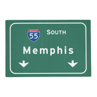 Memphis Tennessee tn Interstate Highway Freeway : Laminated Placemat