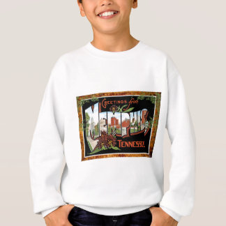 Memphis Tennessee Vintage Travel Postcard Sweatshirt