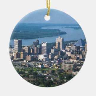 Memphis Tennsesse Skyline Ceramic Ornament