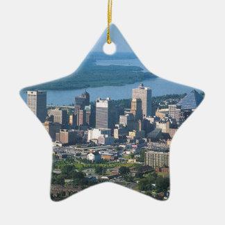 Memphis Tennsesse Skyline Ceramic Ornament