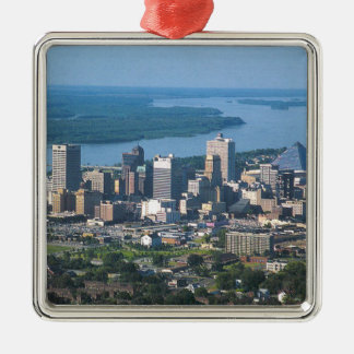 Memphis Tennsesse Skyline Metal Ornament