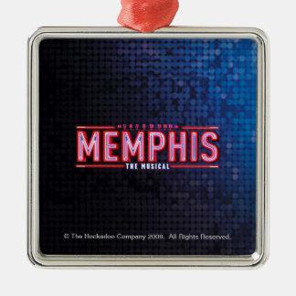 MEMPHIS - The Musical Logo Silver-Colored Square Ornament